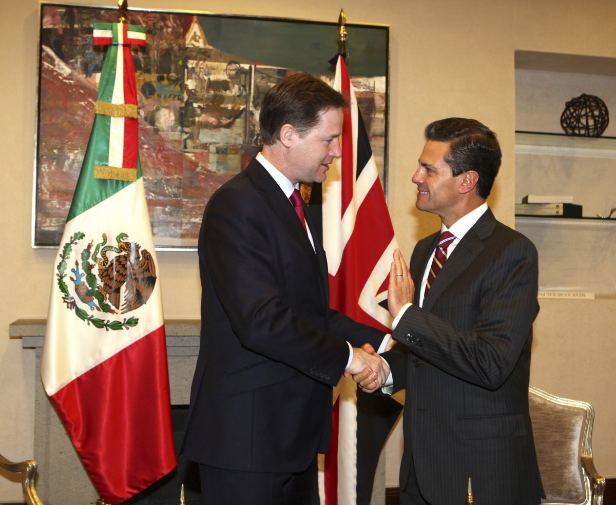 Deputy Prime Minister Nick Clegg: UK Firms Ignore Mexico Drugs and Violence and Target Economic Growth