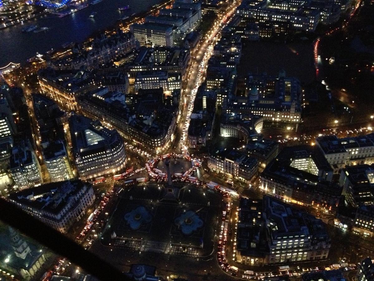 Trafalgar Square during strike