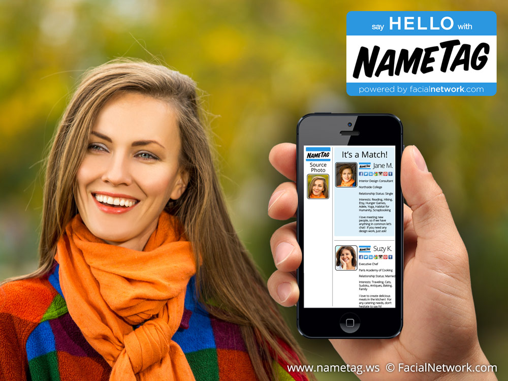 NameTag, a creepy Robocop style facial recognition app for Google Glass and smartphones