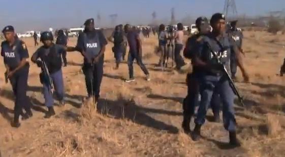 Police during Marikana massacre