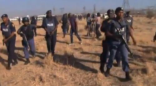 Police during Marikana massacre