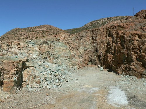 Blue mine in Springbok,  South Africa