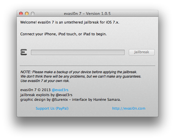 Evasi0n7 1.0.5 Released: How to Jailbreak iOS 7.0.5 Untethered on iPhone, iPad and iPod Touch