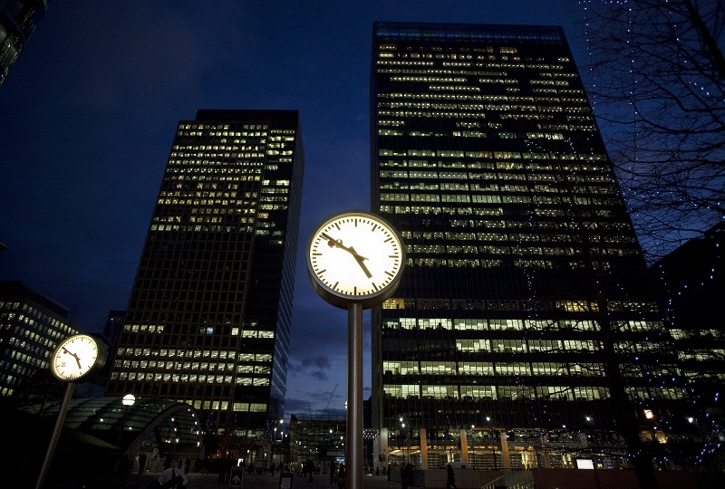 London office at night