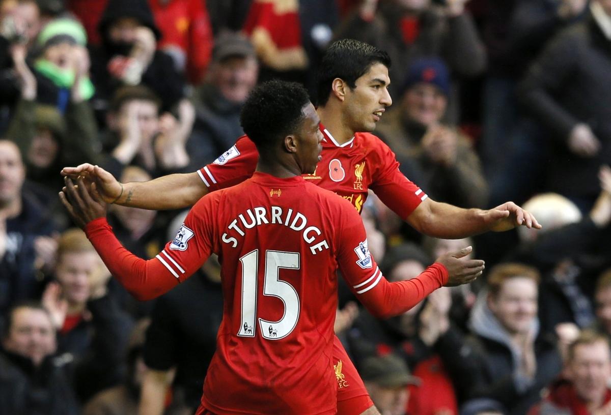Luis Suarez and Daniel Sturridge