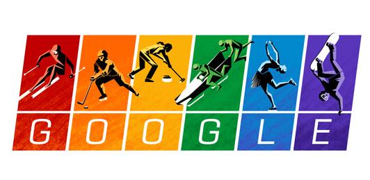 Google Doodle Gay Right Rainbow Flag Sochi 2014
