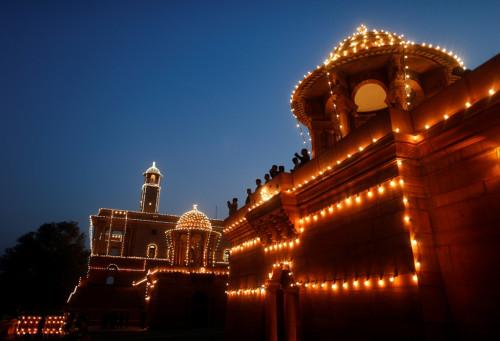 Illuminated Government Buildings, New Delhi, India