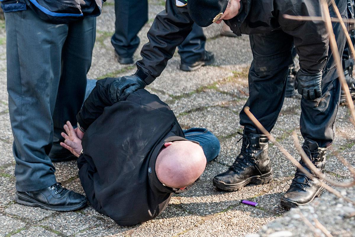 protester arrested