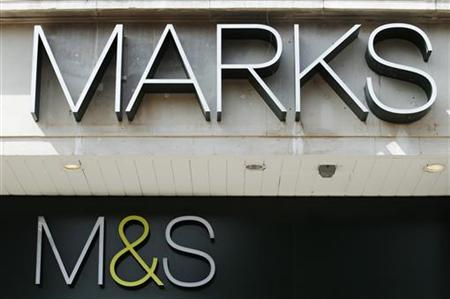 A Marks and Spencer sign