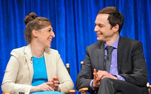 Sheldon kissed Amy for the first time on The Big Bang Theory.