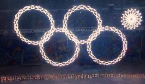 Only Four Olympic Rings Opened At The Ceremony in Sochi