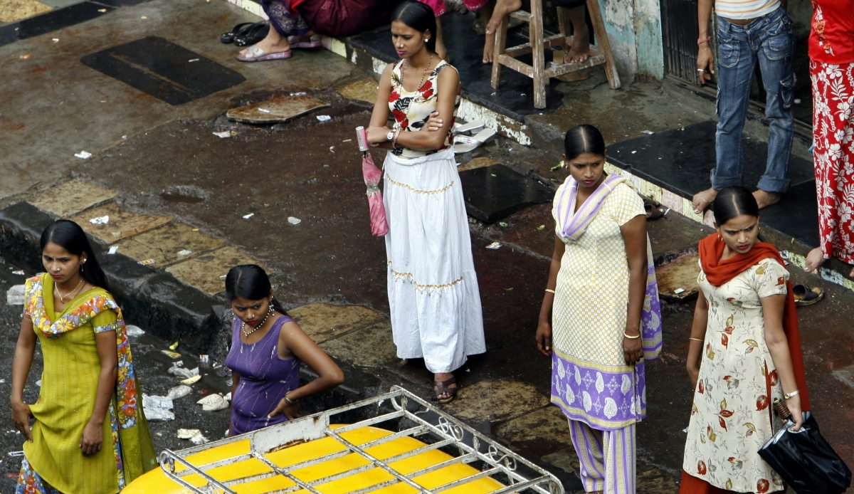 Sex workers in Mumbai's red light district.