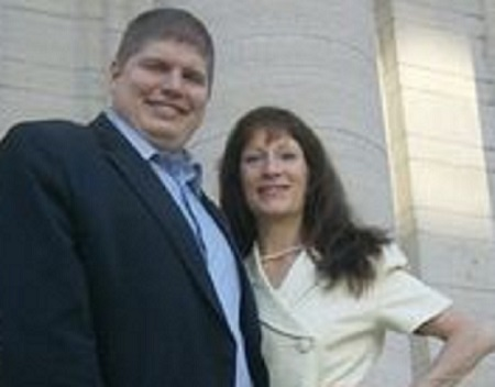 Klonda Richey with former Montgomery County Republican Party Chairman Rob Scott