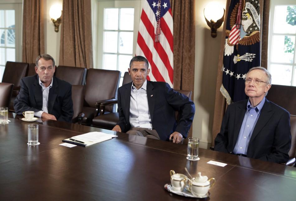 President Barack Obama meets with House Speaker John Boehner about the debt limit in Washington