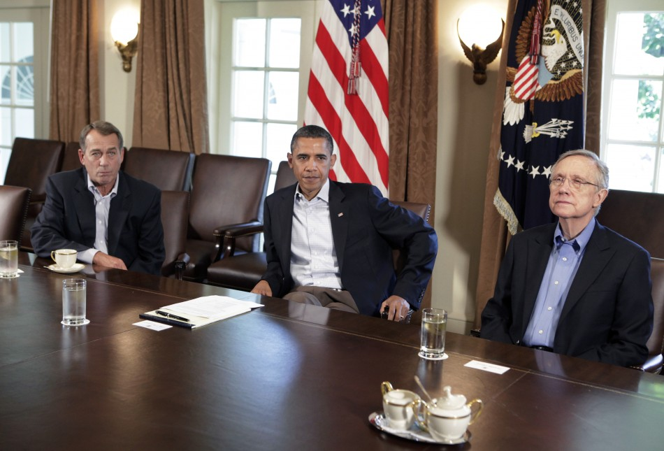 President Barack Obama meets with House Speaker John Boehner about the debt limit in Washington