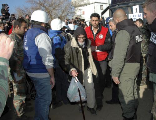 Syria Homs evacuation