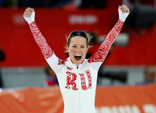 Russia's Olga Graf at the 2014 Sochi Winter Olympics