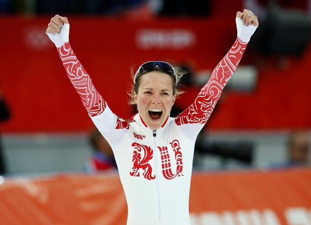 Russia's Olga Graf at the 2014 Sochi Winter Olympics