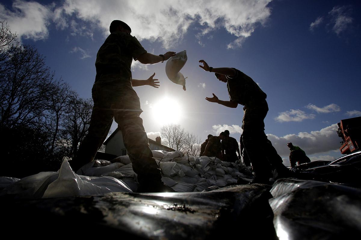 flooding sandbags