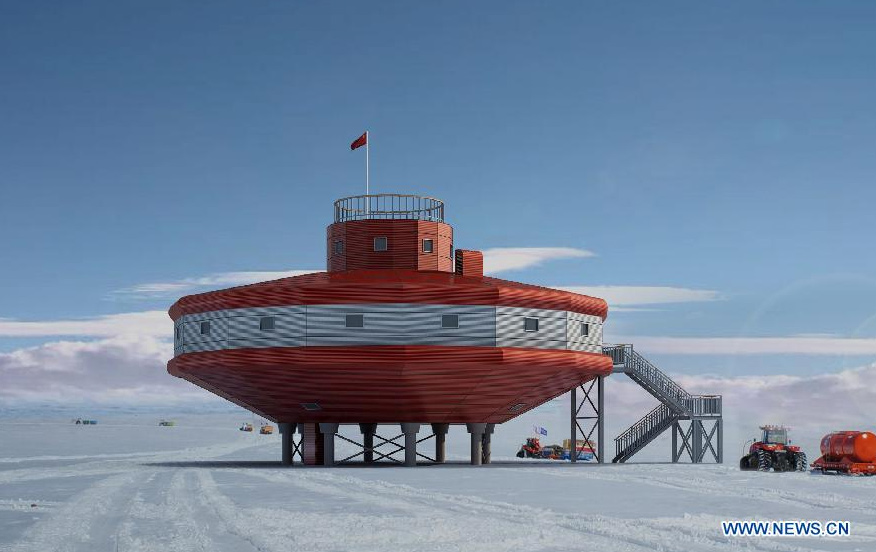 China launches a new research station Taishan in the Antarctica to study earth and space science