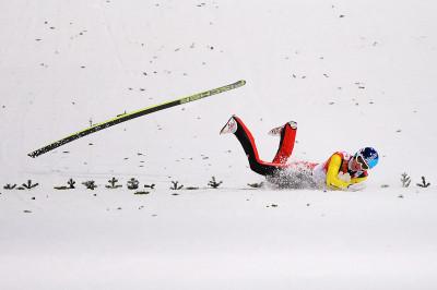 ski jump fall