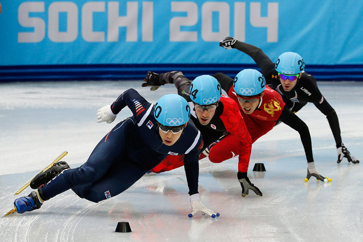 speed skating four