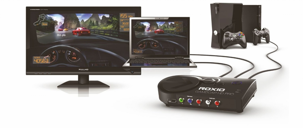 Roxio Game Capture HD Pro, a game capture device that makes streaming gameplay footage simple