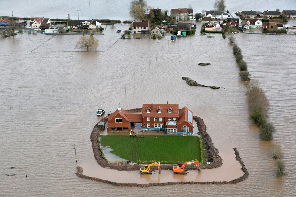flood aerial house