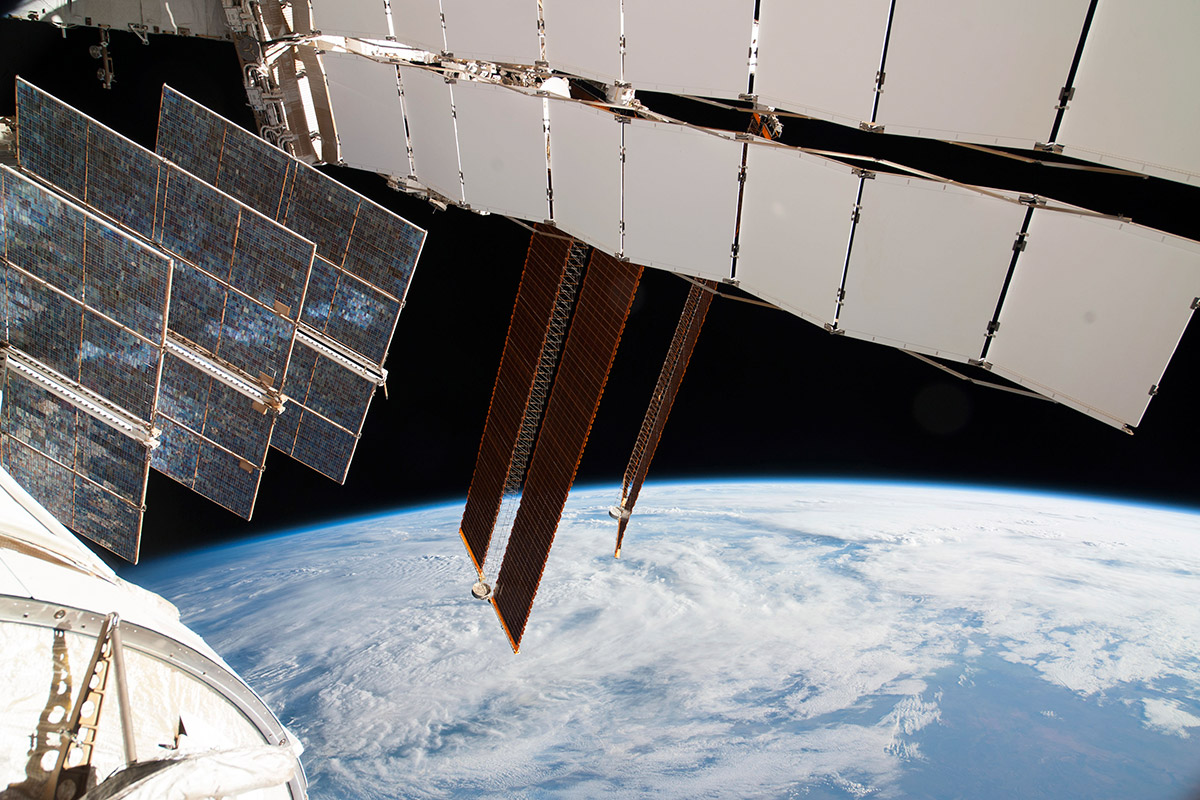 space station solar