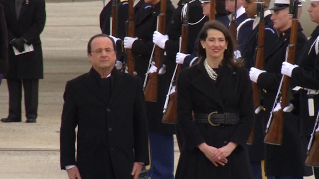 French President Hollande Arrives for U.S. Visit