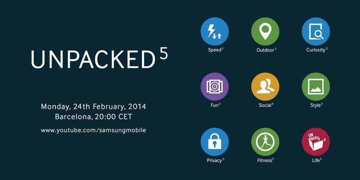 Samsung Galaxy S5 invitation