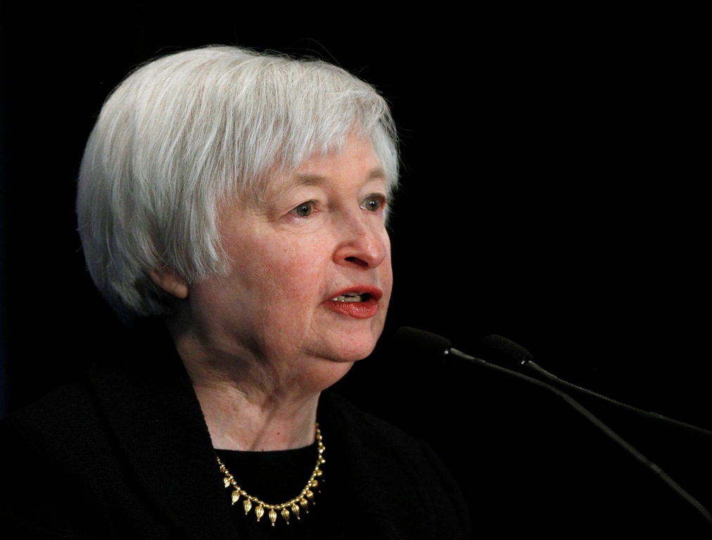 US Federal Reserve Chief Janet Yellen