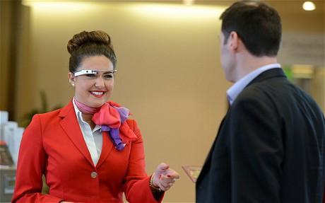Virgin Atlantic trials Google Glass