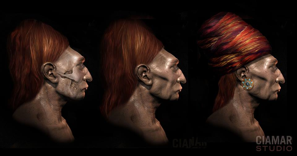 An artist's impresson of what the ancient Paracan people looked like