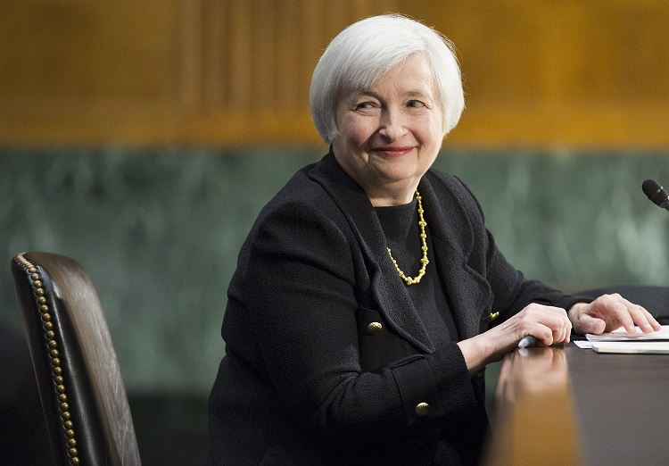 Janet Yellen signalled that interest rates would remain low for some time