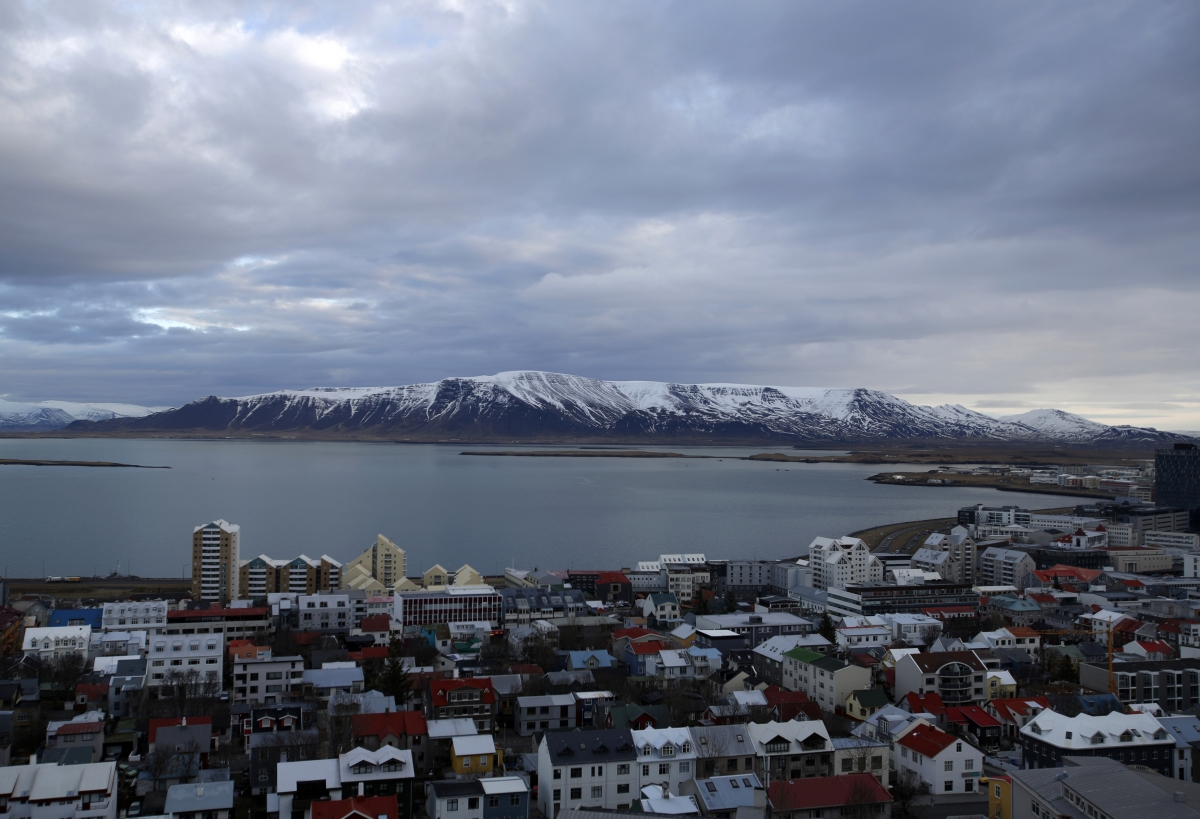 Iceland PM Sigmundur Gunnlaugsson Bats Off £5.3bn Icesave Lawsuit: A general view shows the city of Reykjavik