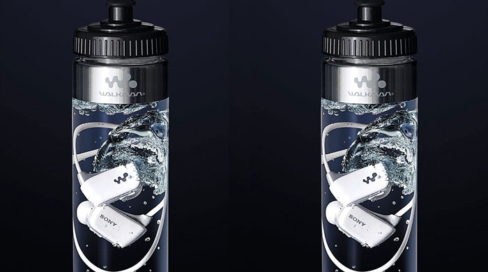 Sony's Bottled Walkman: a waterproof MP3 player in a bottle of water