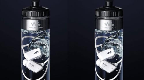 Sony's Bottled Walkman: a waterproof MP3 player in a bottle of water