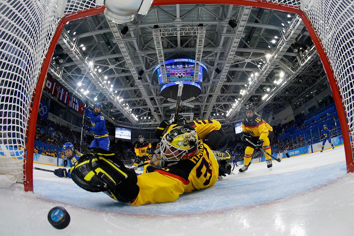 olympic hockey goal