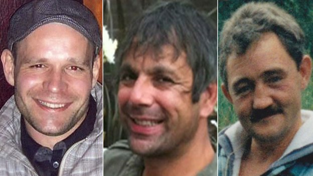 The bodies of Lukasz Slaboszewski, Kevin Lee and John Chapman were found in Peterborough