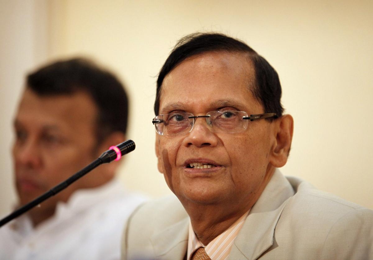 Sri Lanka's Foreign Minister G.L. Peiris