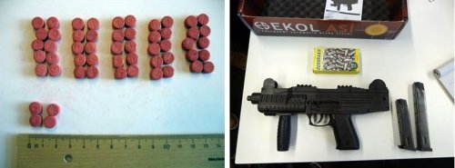 Drugs and weapons seized in the Utopia marketplace takedown case