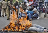 Pepper spray used in Indian parliament