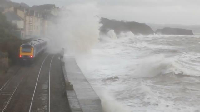 UK Floods: Hurricane Force Winds Batter Britain