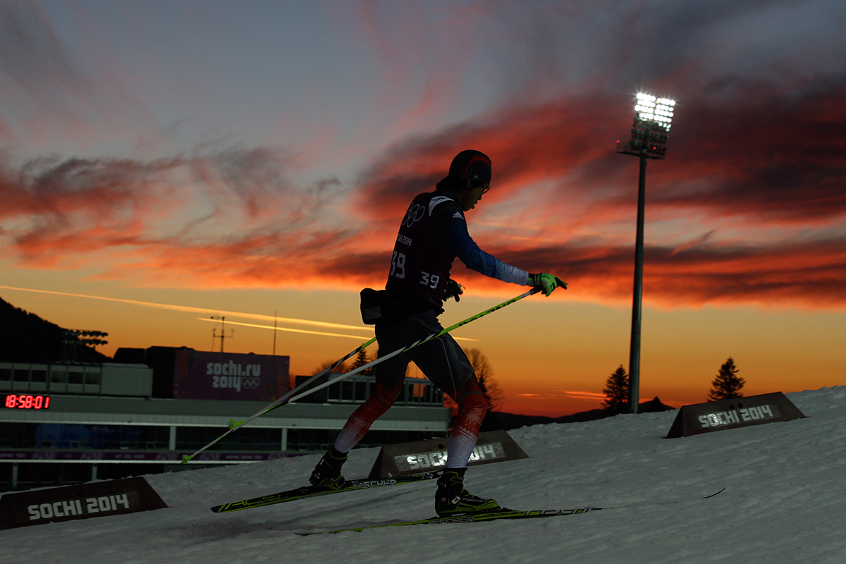 biathlon sunset