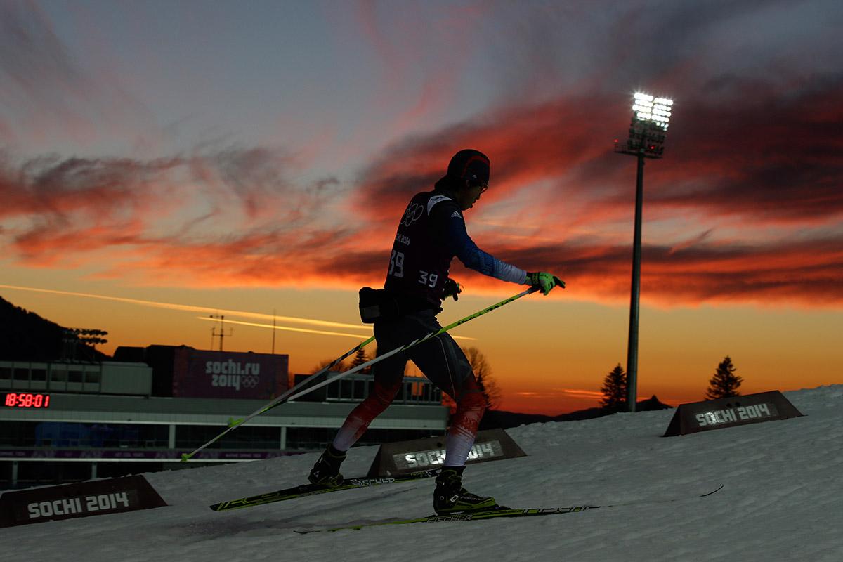 biathlon sunset