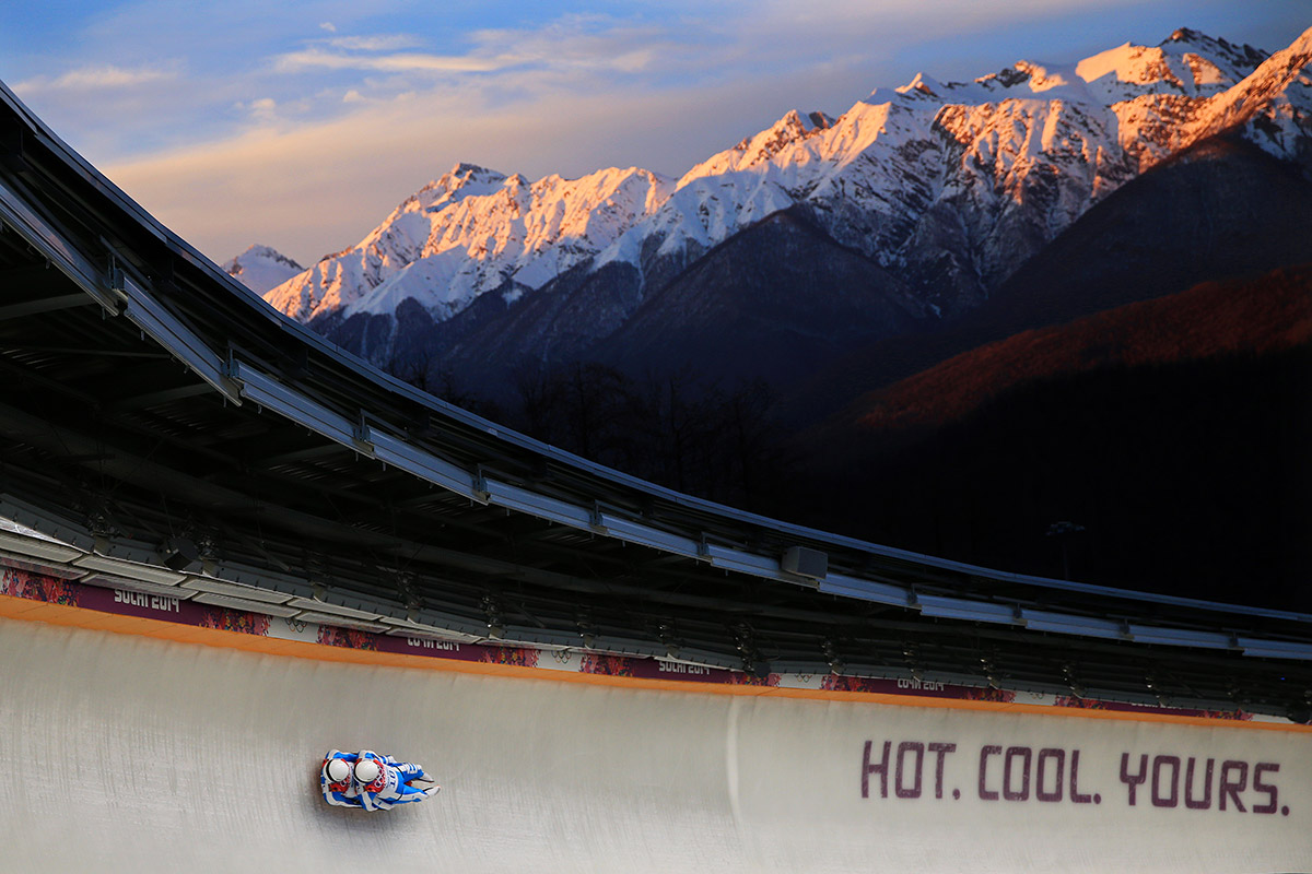 luge sunset