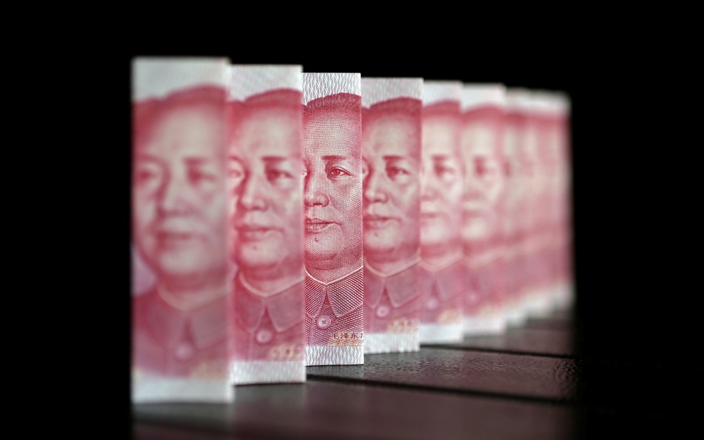 Chinese yuan displaces Swiss franc as seventh most-used currency.