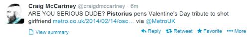 Pistorius' statement