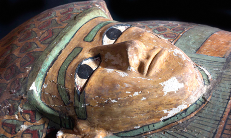 Mummy Preserved in Wooden Tomb